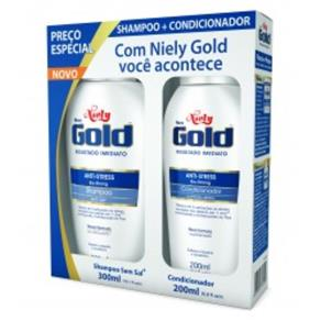 Kit Shampoo + Condicionador Niely Gold Anti-Stress