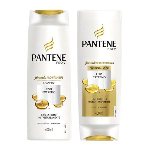 Kit Shampoo + Condicionador Pantene Liso Extremo