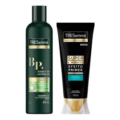 Kit Tresemmé Shampoo Baixo Poo Nutrição 400ml + Super Condicionador Lisos e Ondulados 170ml