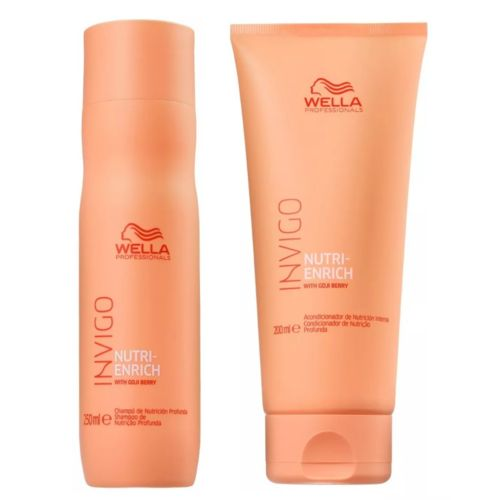 Kit Wella Invigo Nutri Enrich Shampoo 250ml + Condicionador 200ml