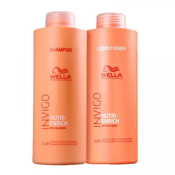Kit Wella Invigo Nutri Enrich Shampoo + Condicionador 1000ML