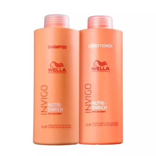 Kit Wella Invigo Nutri Enrich Shampoo e Condicionador 1000Ml