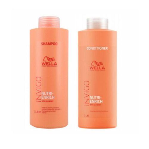 Kit Wella Invigo Nutri-enrich Shampoo e Condicionador