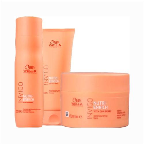 Kit Wella Invigo Shampoo + Condicionador 250ml Grátis Máscara Enrich 150ml