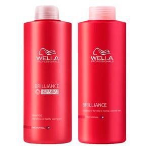 Kit Wella Professionals Brilliance Duo Grande (Shampoo e Condicionador) Conjunto