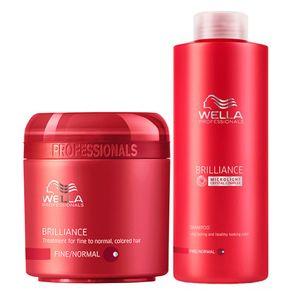 Kit Wella Professionals Brilliance Duo Grande (Shampoo e Máscara) Conjunto