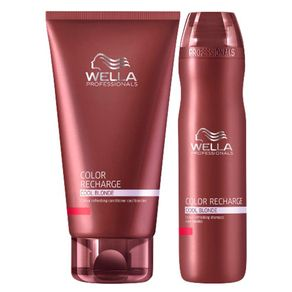 Kit Wella Professionals Color Recharge Cool Blonde (Shampoo e Condicionador) Conjunto