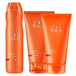 Kit Wella Professionals Enrich Coarse Hair (3 Produtos) Conjunto