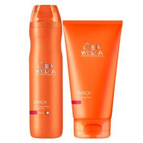 Kit Wella Professionals Enrich Coarse Hair (Shampoo e Máscara) Conjunto