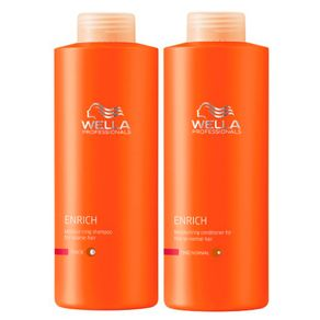 Kit Wella Professionals Enrich Duo Grande (Shampoo e Condicionador) Conjunto