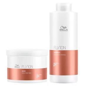 Kit Wella Professionals Fusion Grande (Shampoo e Máscara) Conjunto