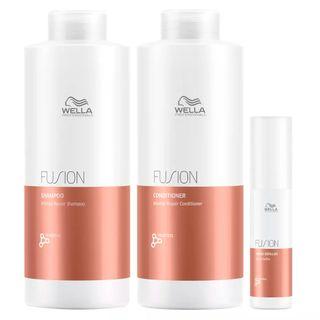 Kit Wella Professionals Fusion - Shampoo + Condicionador + Tratamento Kit