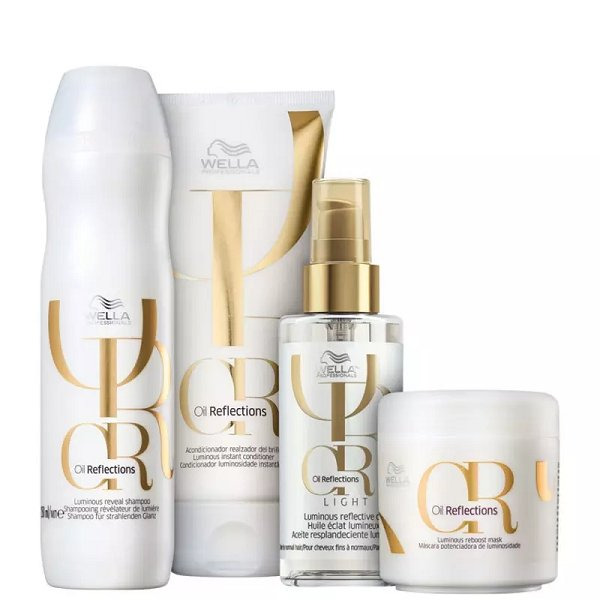 Kit Wella Professionals Oil Reflections Light (4 Produtos)