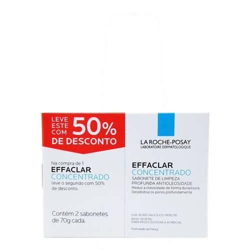 La Roche-posay Effaclar Concentrado Kit - 2 Sabonetes 70g