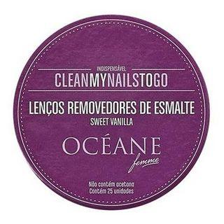 Lenço Removedor de Esmalte Océane - Vanilla 1 Un