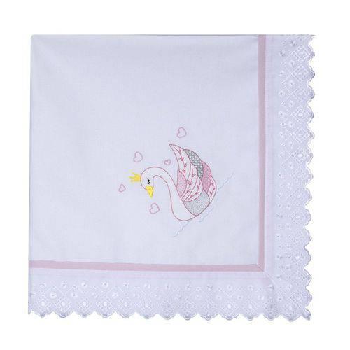 Manta de Bebê Cisne Rosa