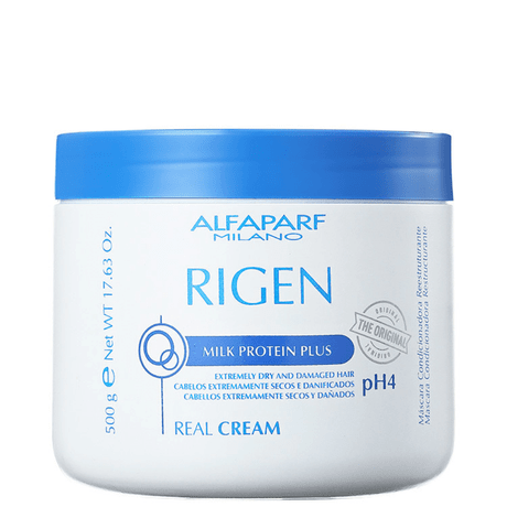 Máscara de Tratamento Alfaparf Rigen Milk Protein Plus Real Cream PH4 – 500g