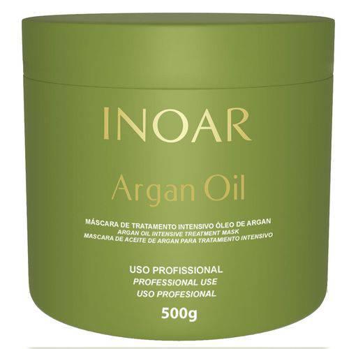 Máscara de Tratamento Inoar Argan Oil Resistência e Força para Cabelos Danificados 500g