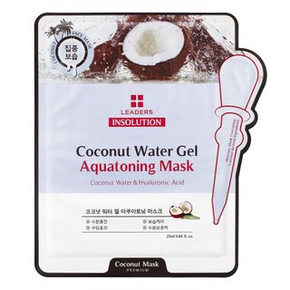 Máscara Facial Leaders - Insolution Coconut Water Gel Aquatoning 1 Un