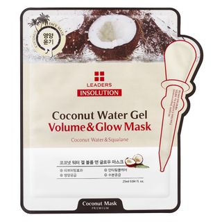Máscara Facial Leaders - Insolution Coconut Water Gel Volume & Glow 1 Un