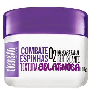 Máscara Facial Refrescante O2 Clearskin By Avon - 100 G