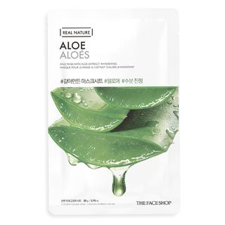 Máscara Facial The Face Shop Real Nature - Aloe 1 Un