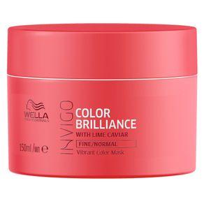 Máscara Wella Professionals Invigo Color Brilliance Capilar 150ml