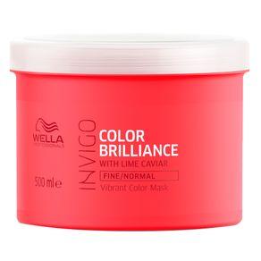 Máscara Wella Professionals Invigo Color Brilliance Capilar 500ml