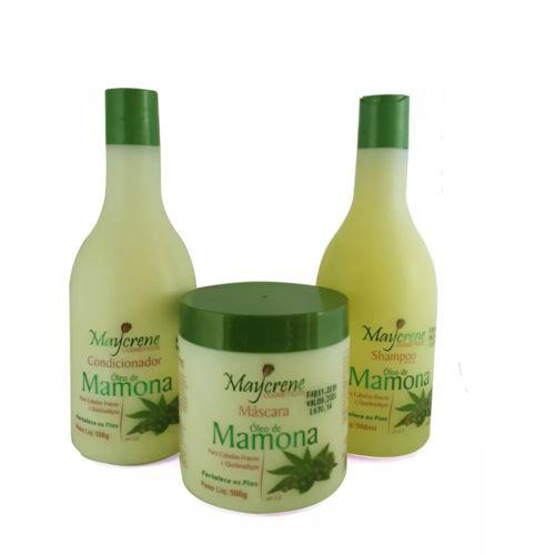 Naturiun Kit Óleo de Mamona Shampoo + Condicionador + Máscara