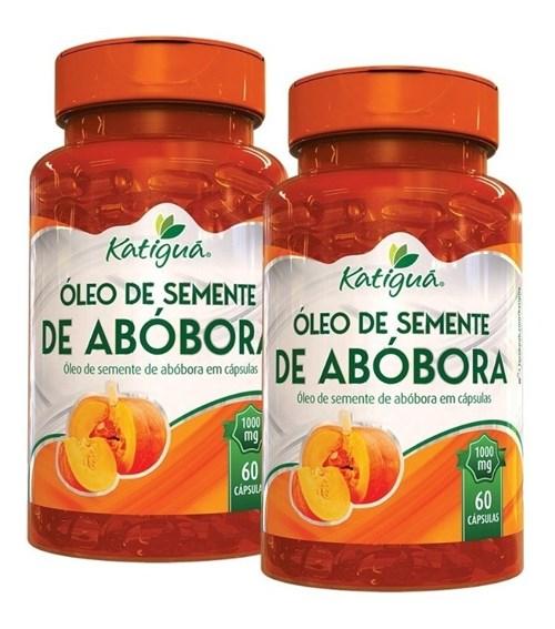Óleo de Semente de Abóbora Prensado a Frio 2X60 Cáps Katiguá (Natural)