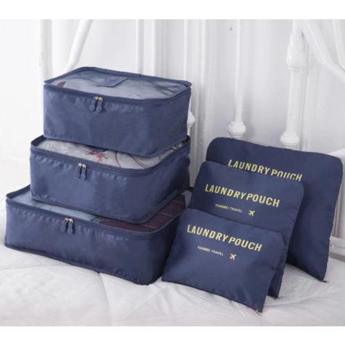 Organizador de Mala de Bagagem Viagem Kit 6 Necessaire Bolsa