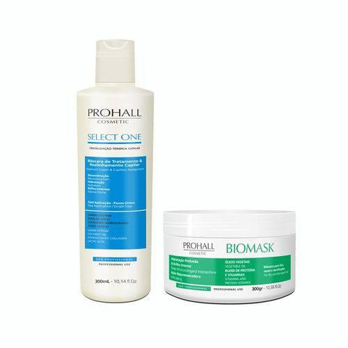 Prohall Escova Select Progressiva 300ml+máscara Biomask 300g