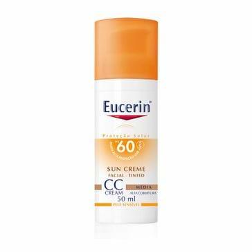 Protetor Solar Eucerin FPS-60 Tinted CC Cream Médio 50ml