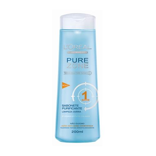 Pure Zone L'oréal Dermo-Expertise Sabonete Líquido com 200ml