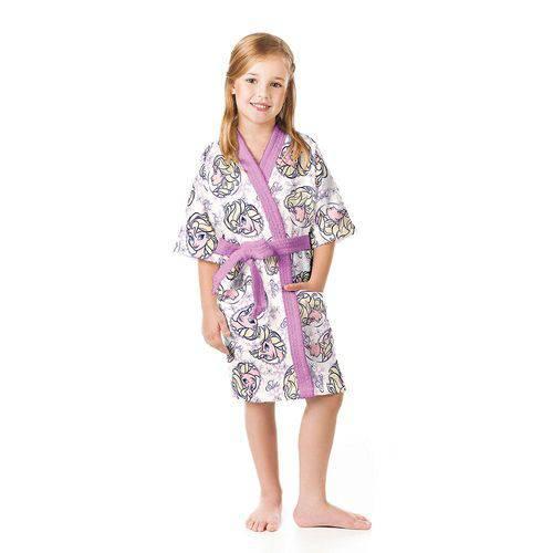 Roupão Frozen P Infantil 1 Peça Lilás - Lepper