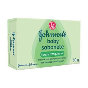 Sabonete Infantil Johnson S Baby Toque Fresquinho com 80 Gramas