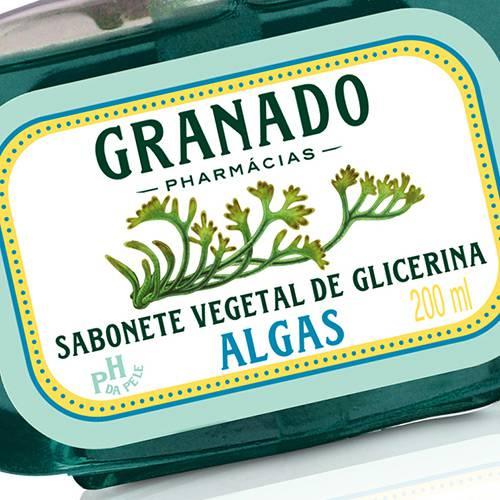 Sabonete Líquido de Glicerina Algas 200ml - Granado