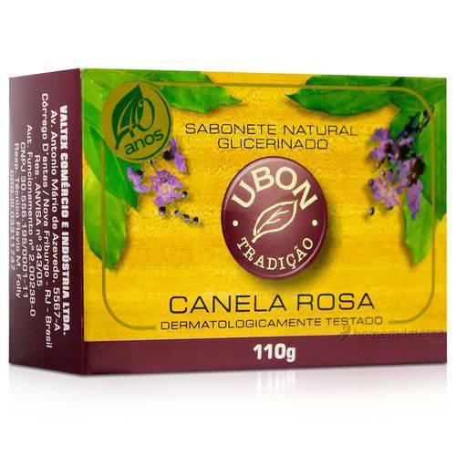 Sabonete Natural Glicerinado com Canela Rosa Ubon - 110g