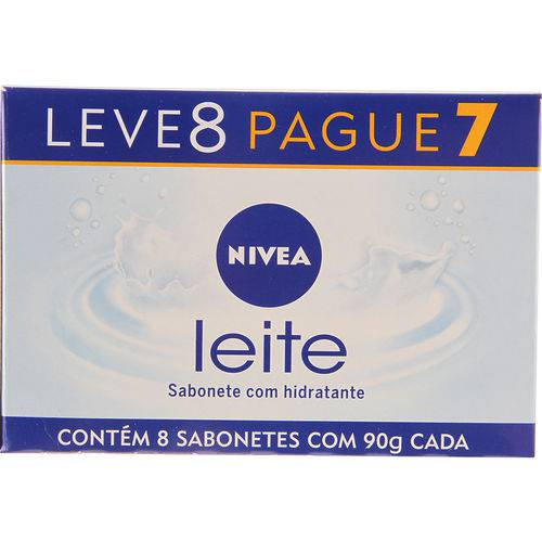Sabonete Nivea Hidratante Proteínas do Leite 8 Unidades - 90g