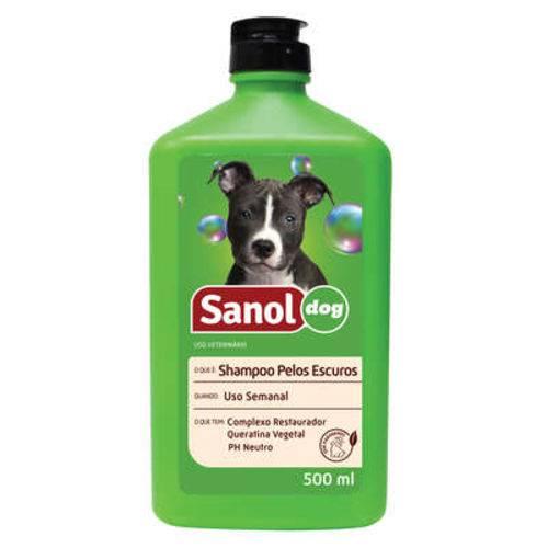 Sanol Shampoo Pelos Escuros - 500ml