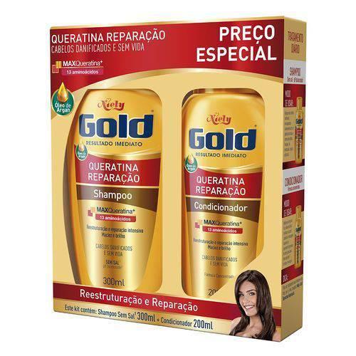 Sh+Cond Niely Gold Rep Intensa Queratina