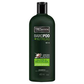 Shampoo Baixo Poo + Nutrição TRESsemmé 400mL