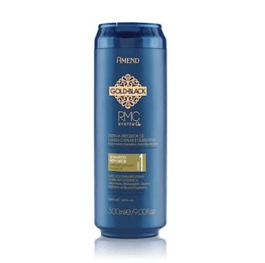 Shampoo Repositor de Massa Capilar e Queratina Gold Black Amend - 300M...