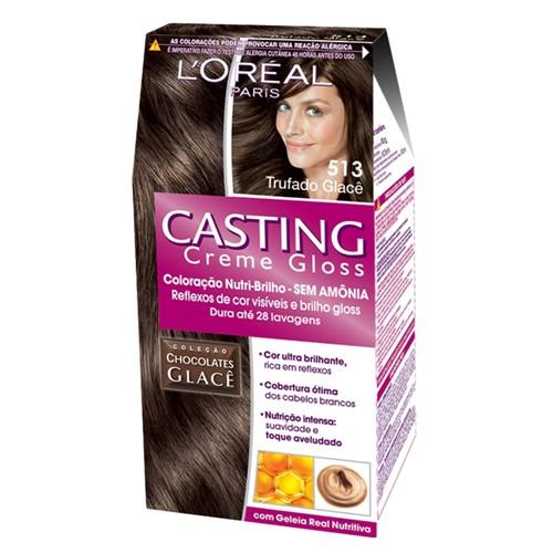 Tintura Creme Casting Creme Gloss L'oréal Trufado Glacê 513 Kit