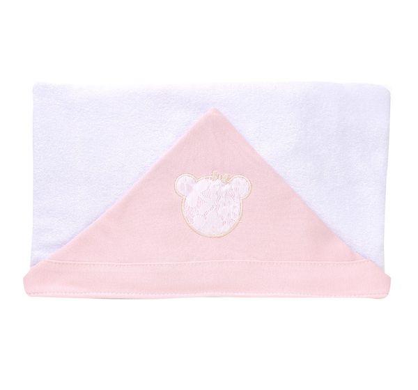 Toalha de Banho Carinhoso Rosa Hug