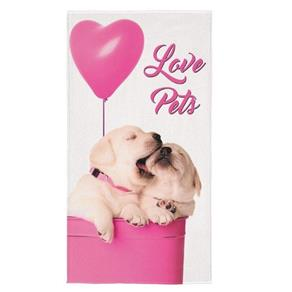 Toalha de Praia Aveludada Transfer Pet Love