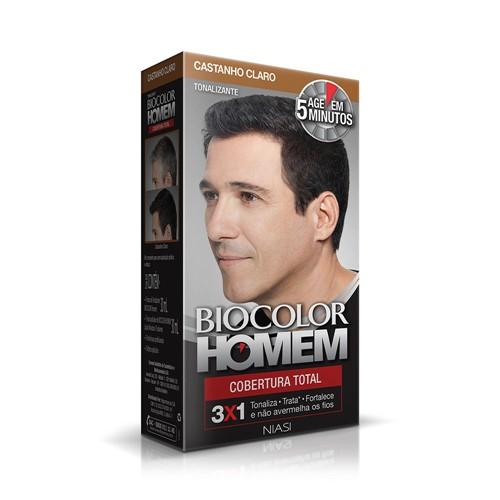 Tonalizante Biocolor Homem Castanho Claro