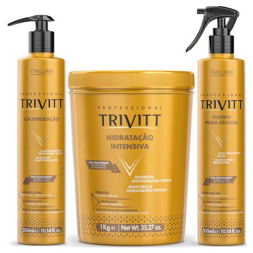 Trivitt - Kit Cauterização 300ml, Hidratação Intensiva 1Kg, Fluido para Escova 300ml