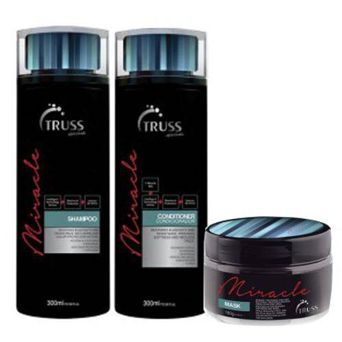 Truss Cuidados Diários Miracle Kit Shampoo + Condicionador + Máscara