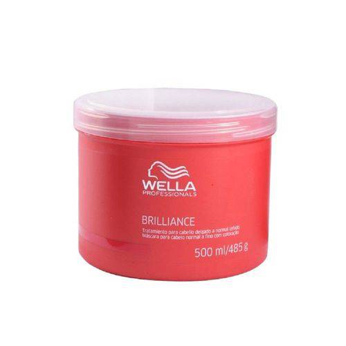 Wella Professionals Brilliance Máscara Cabelos Finos 500 Ml